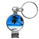 Cancun Beach Nail Clippers Key Chain