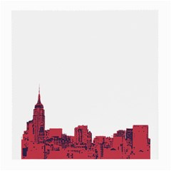 Skyline Glasses Cloth (medium, Two Sided) by PaolAllen