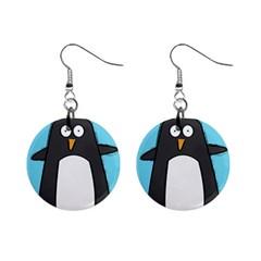 Hello Penguin Mini Button Earrings by PaolAllen
