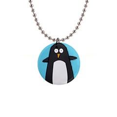 Hello Penguin Button Necklace by PaolAllen