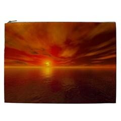 Sunset Cosmetic Bag (xxl) by Siebenhuehner