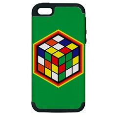 Colorful Cube, Solve It! Apple Iphone 5 Hardshell Case (pc+silicone) by ContestDesigns