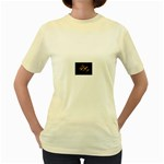 Nosferatu Vampire in His Tomb Women s Yellow T-Shirt