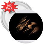 Nosferatu Vampire in His Tomb 3  Button (100 pack)