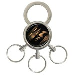 Nosferatu Vampire in His Tomb 3-Ring Key Chain