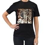 Castle Yard in Winter -AveHurley ArtRevu.com- Women s T-Shirt (Black) (Two Sided)