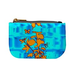Butterfly Blue Coin Change Purse by uniquedesignsbycassie