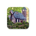 Essex Lighthouse -AveHurley ArtRevu.com- Rubber Coaster (Square)