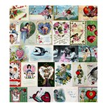 Vintage Valentine Cards Shower Curtain 66  x 72  (Large)