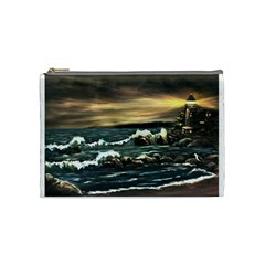 bridget s Lighthouse   By Ave Hurley Of Artrevu   Cosmetic Bag (medium) by ArtRave2