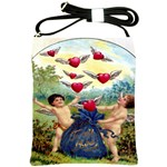 Vintage Valentine Cherubs Shoulder Sling Bag