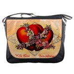 Vintage Valentine Hearts Messenger Bag