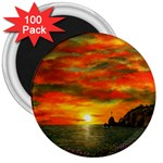 Alyssa s Sunset -Ave Hurley ArtRevu.com- 3  Magnet (100 pack)