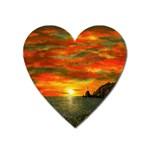 Alyssa s Sunset -Ave Hurley ArtRevu.com- Magnet (Heart)
