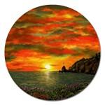 Alyssa s Sunset -Ave Hurley ArtRevu.com- Magnet 5  (Round)