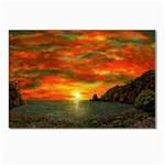 Alyssa s Sunset -Ave Hurley ArtRevu.com- Postcard 5  x 7