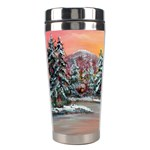 Jane s Winter Sunset Stainless Steel Travel Tumbler