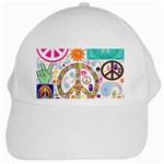 Peace Collage White Baseball Cap