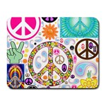 Peace Collage Small Mouse Pad (Rectangle)