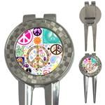 Peace Collage Golf Pitchfork & Ball Marker