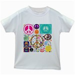 Peace Collage Kids T-shirt (White)