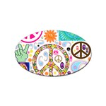 Peace Collage Sticker (Oval)