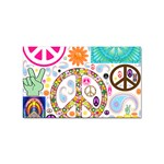 Peace Collage Sticker (Rectangle)