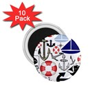 Nautical Collage 1.75  Button Magnet (10 pack)