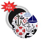 Nautical Collage 2.25  Button Magnet (10 pack)