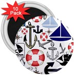 Nautical Collage 3  Button Magnet (10 pack)