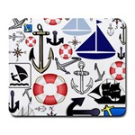 Nautical Collage Large Mouse Pad (Rectangle)