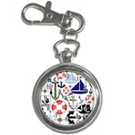 Nautical Collage Key Chain & Watch