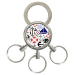 Nautical Collage 3-Ring Key Chain
