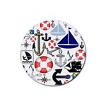 Nautical Collage Drink Coasters 4 Pack (Round)