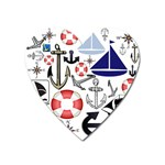 Nautical Collage Magnet (Heart)