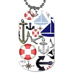 Nautical Collage Dog Tag (One Sided)