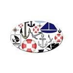 Nautical Collage Sticker 100 Pack (Oval)