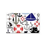 Nautical Collage Sticker 10 Pack (Rectangle)