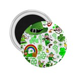 St Patrick s Day Collage 2.25  Button Magnet