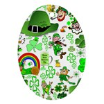 St Patrick s Day Collage Oval Ornament