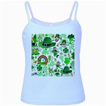 St Patrick s Day Collage Baby Blue Spaghetti Tank