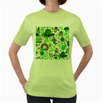 St Patrick s Day Collage Women s T-shirt (Green)
