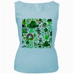 St Patrick s Day Collage Women s Tank Top (Baby Blue)