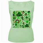 St Patrick s Day Collage Women s Tank Top (Green)