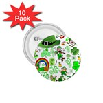 St Patrick s Day Collage 1.75  Button (10 pack)