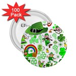 St Patrick s Day Collage 2.25  Button (100 pack)