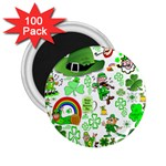 St Patrick s Day Collage 2.25  Button Magnet (100 pack)