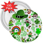 St Patrick s Day Collage 3  Button (100 pack)