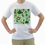 St Patrick s Day Collage Men s Two-sided T-shirt (White)