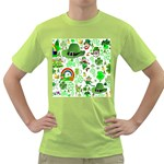 St Patrick s Day Collage Men s T-shirt (Green)